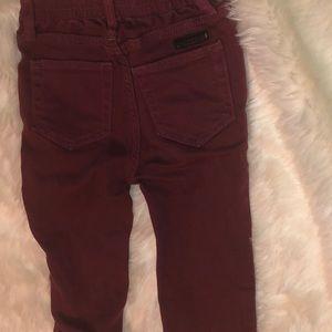 Burgundy Burberry Baby Pants